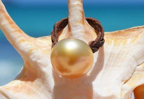 Bague perle d'Australie