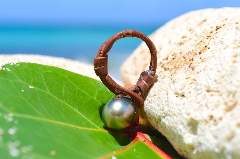 Bague une perle de Tahiti - 10.5mm