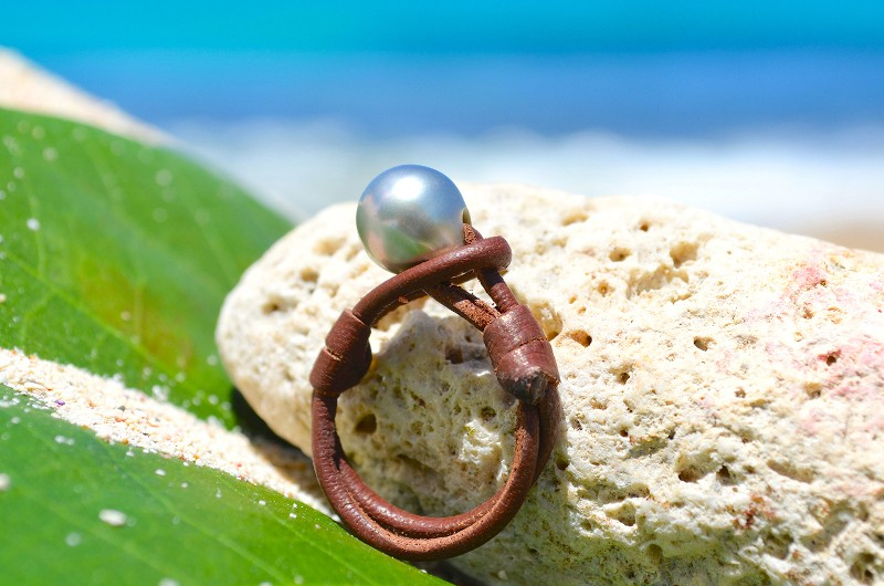 Bague une perle de Tahiti - 9mm