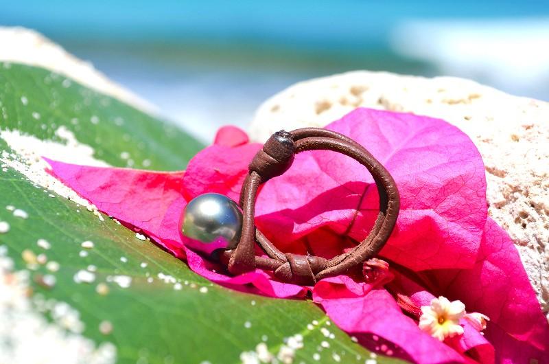 Bague une perle de Tahiti - 10mm