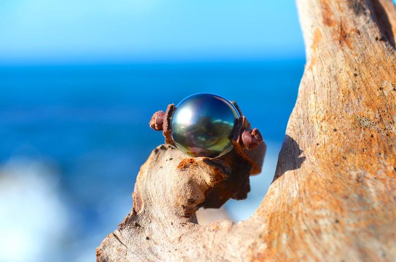 Bague avec une perle de Tahiti - 11.5mm
