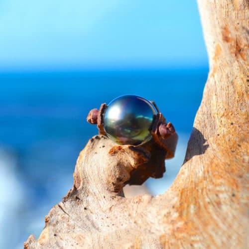 Bague une perle de Tahiti - 11-5mm