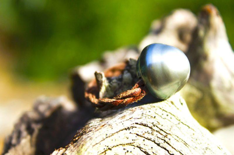 Bague tressée et perle de Tahiti - 14.5mm