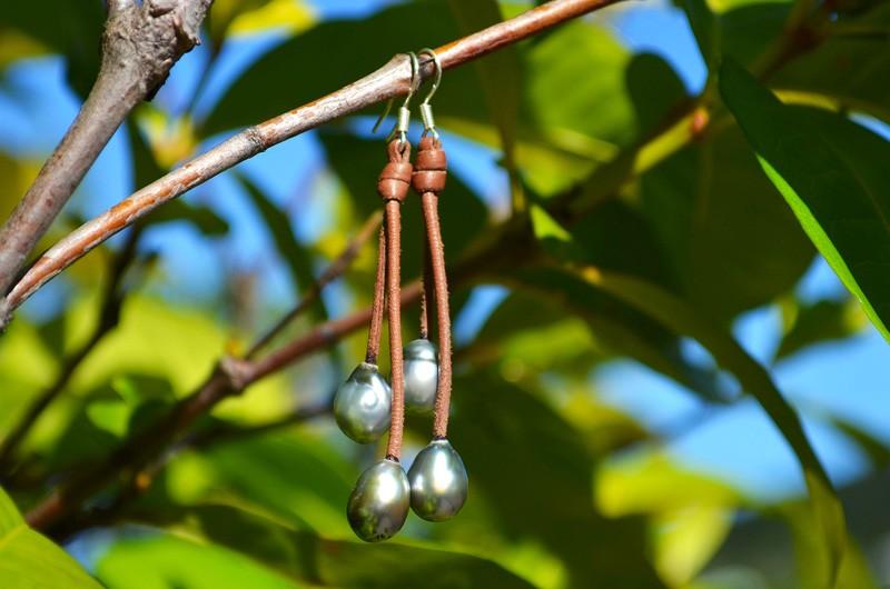 Boucles d'oreilles 4 perles de Tahiti