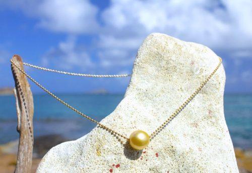 Chaine Or/Argent et perles