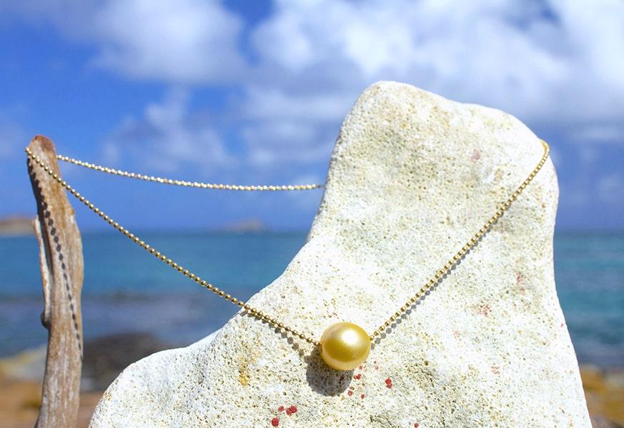 Chaine, or, argent et perles