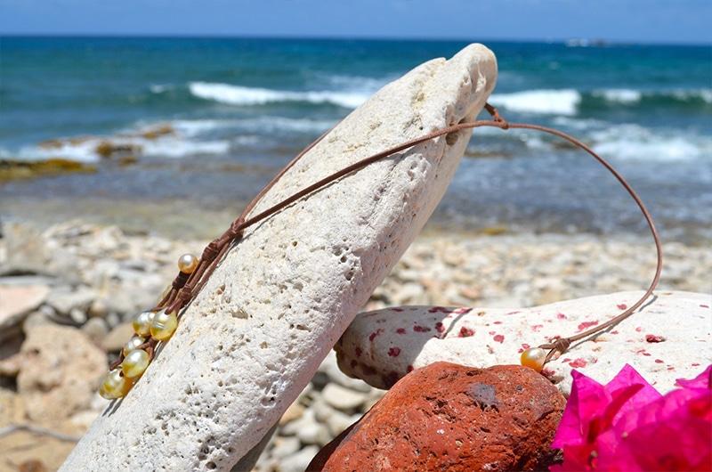 Collier grappe de 10 perles d'Australie