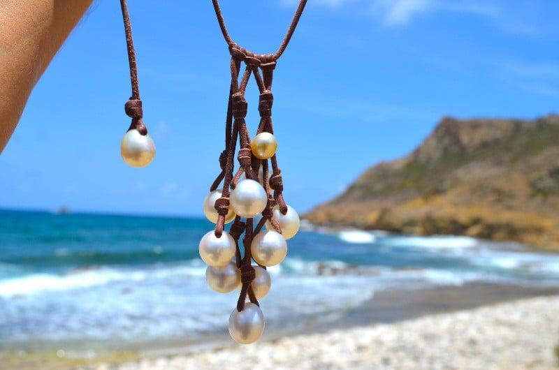 Collier grappe de 11 perles d'Australie