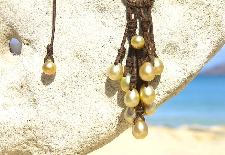 Collier perles d'Australie