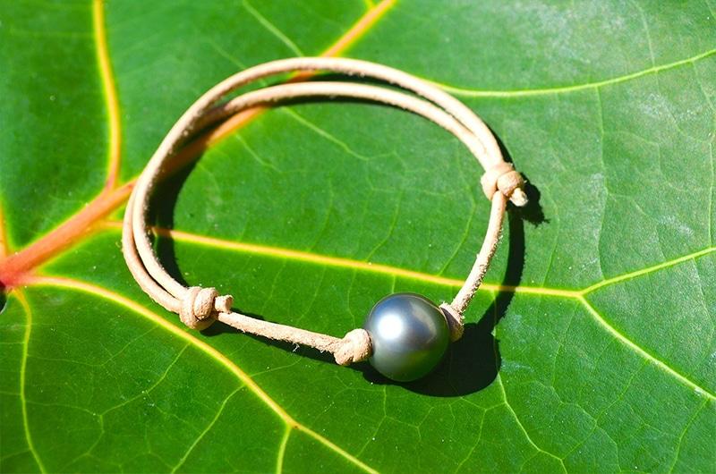 Adjustable bracelet 1 round Tahiti Pearl - 12,5mm