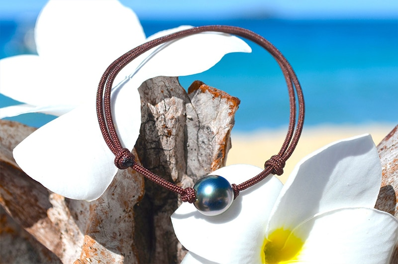 Adjustable bracelet 1 Tahitian Pearl (9mm)