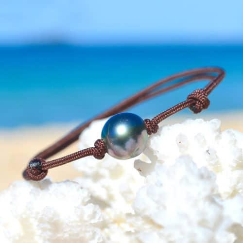 Adjustable bracelet 1 Tahitian Pearl (9mm)