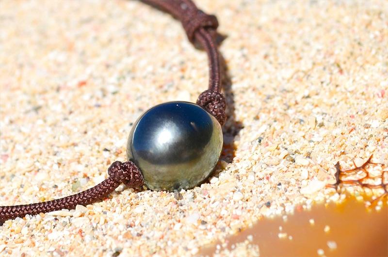 Adjustable bracelet 1 Tahitian Pearls (10mm)