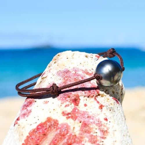 Adjustable bracelet 1 Tahitian Pearls (12,5mm)