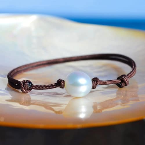 Australian white pearl adjustable bracelet - 8.5mm
