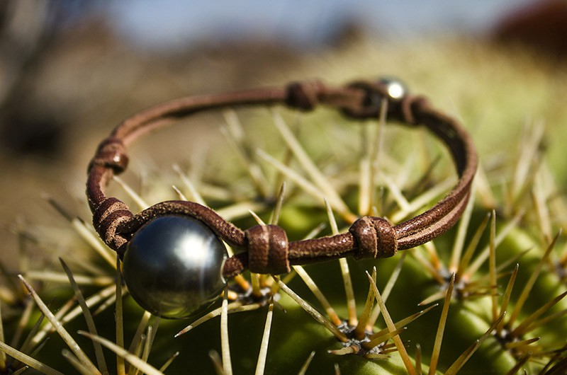 Bracelet 1 perle ronde de Tahiti