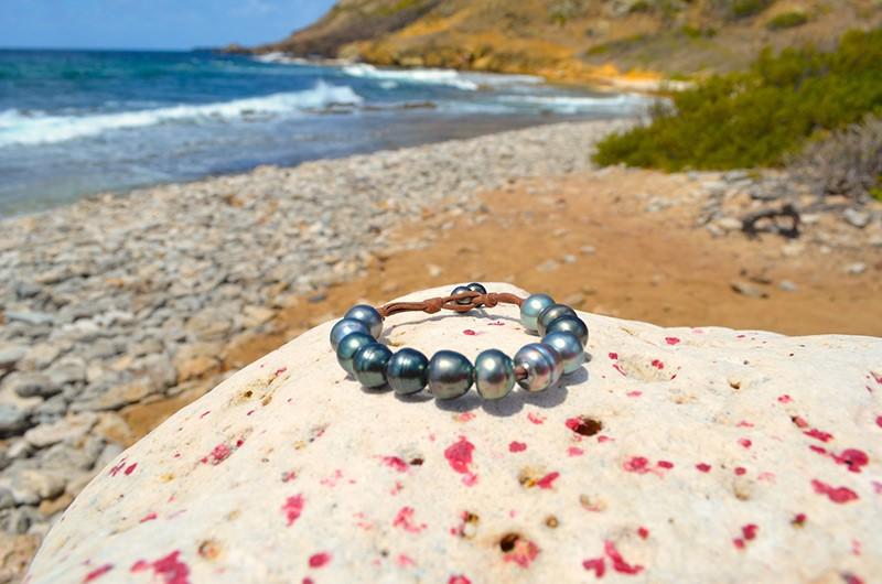 Bracelet 1 rang 12 perles de Tahiti - 11.5mm