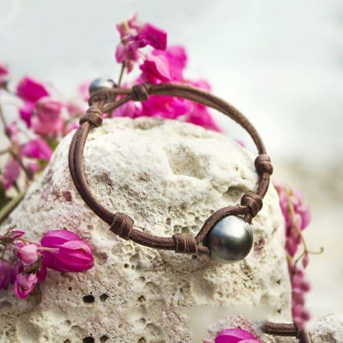 Bracelet 1 round Tahitian Pearl