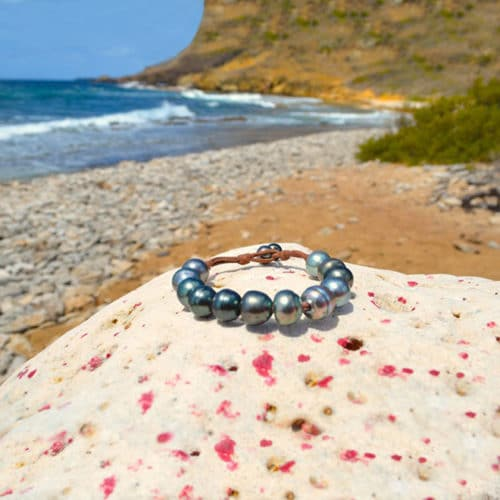 Bracelet 1 row of 12 Tahitian pearls (11,5mm)