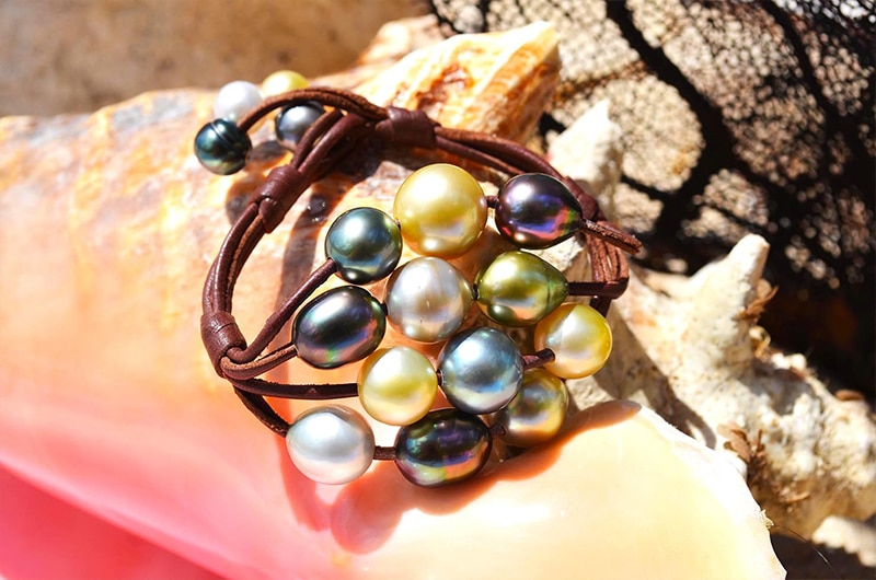 Bracelet 16 perles multicolores