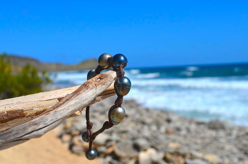 Bracelet 5 perles baroques de Tahiti