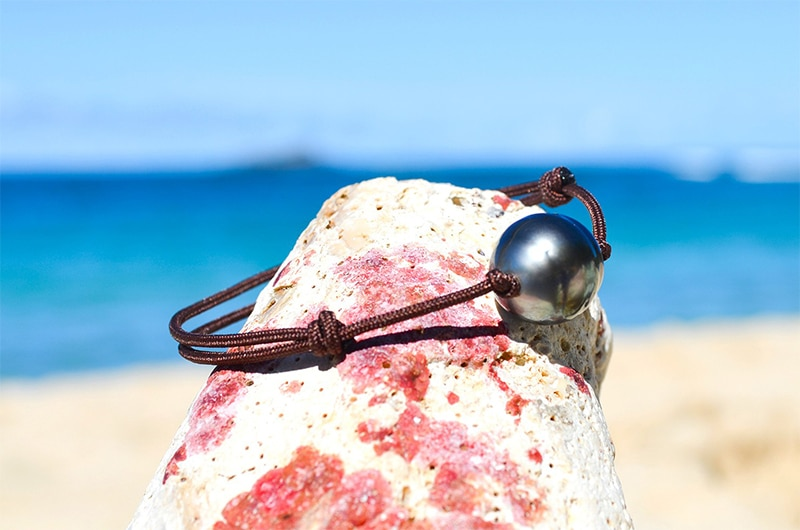 Bracelet ajustable une perle de Tahiti (12,5mm)
