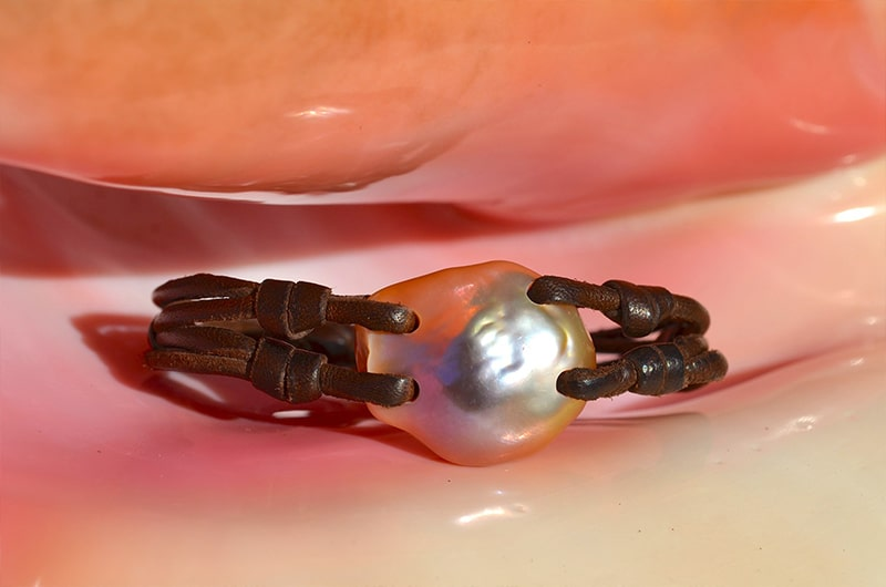 Bracelet Keishi rose d'eau douce