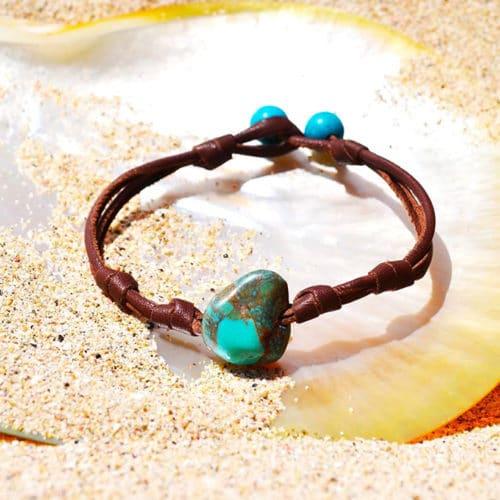 Bracelet pépite de turquoises