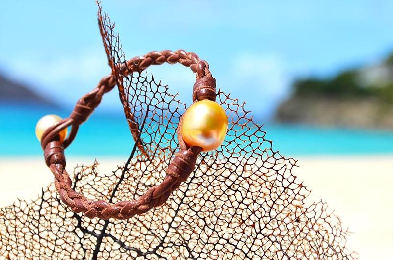 Bracelet tressé une perle d'Australie