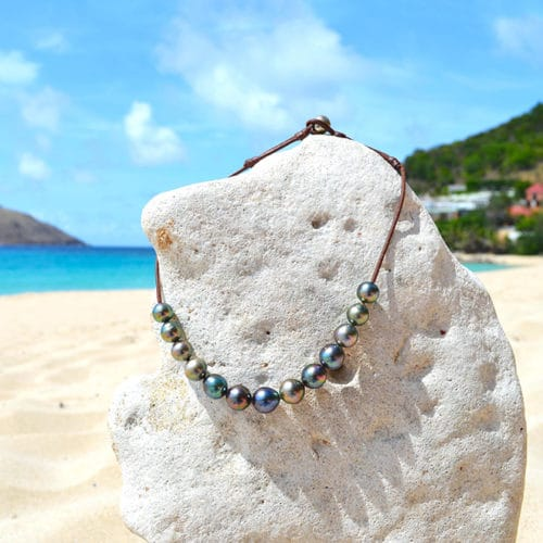 Chocker Necklace 14 Tahitian Pearls