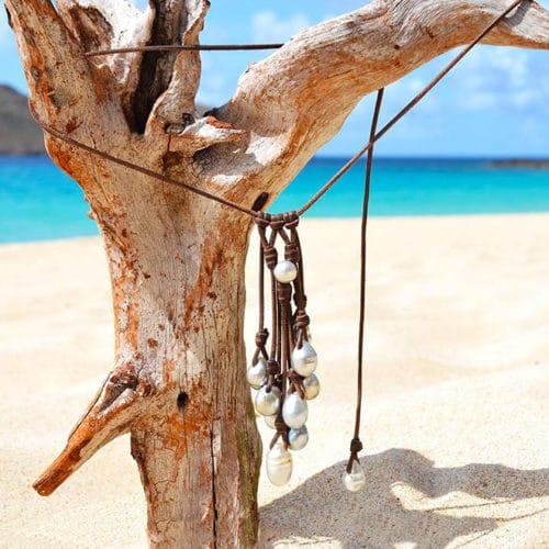 Collier grappe 11 perles de Tahiti
