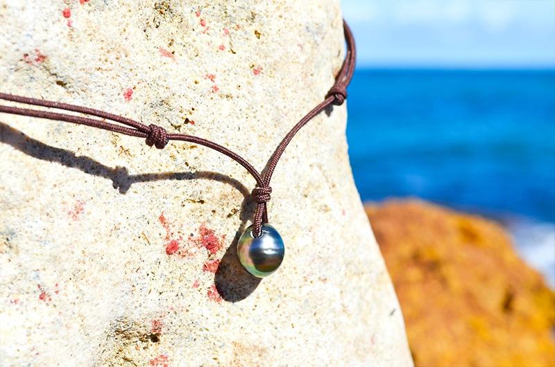 Collier pendentif une perle de Tahiti (10,5mm)