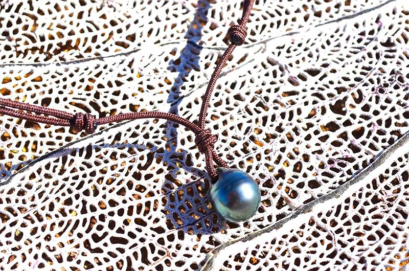 Collier pendentif une perle de Tahiti (10mm)