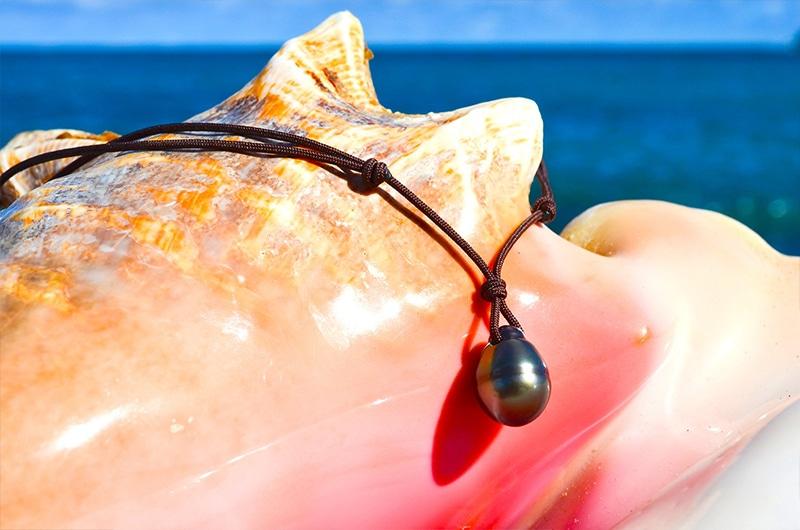 Collier pendentif une perle de Tahiti (12,5mm)