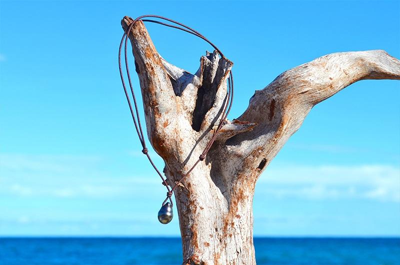 Collier pendentif une perle de Tahiti (12mm)