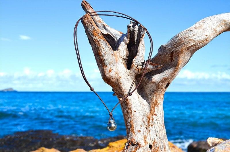 Collier pendentif une perle de Tahiti (13,5mm)