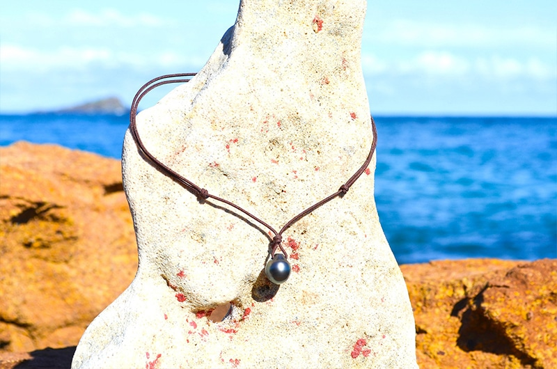 Collier pendentif perle de Tahiti - 13mm