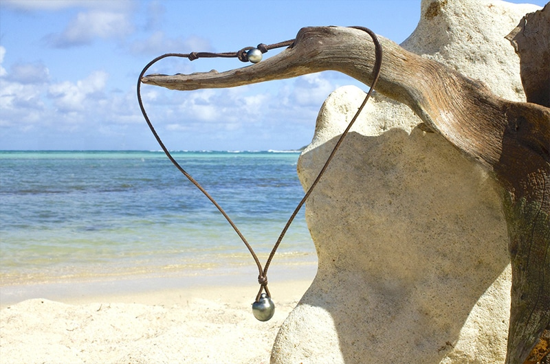 Collier pendentif perles de Tahiti