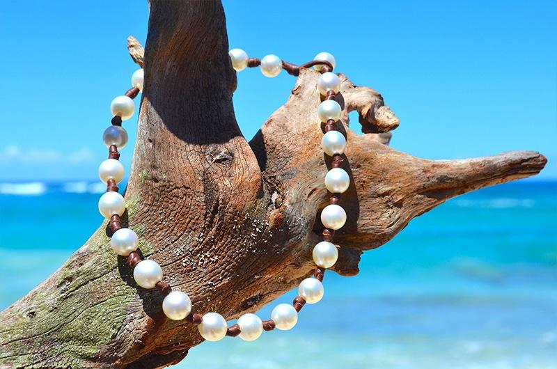 Collier ras du cou 23 perles d'Australie