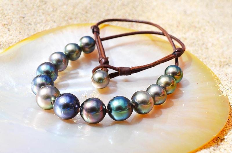 Collier raz du cou 14 perles de Tahiti