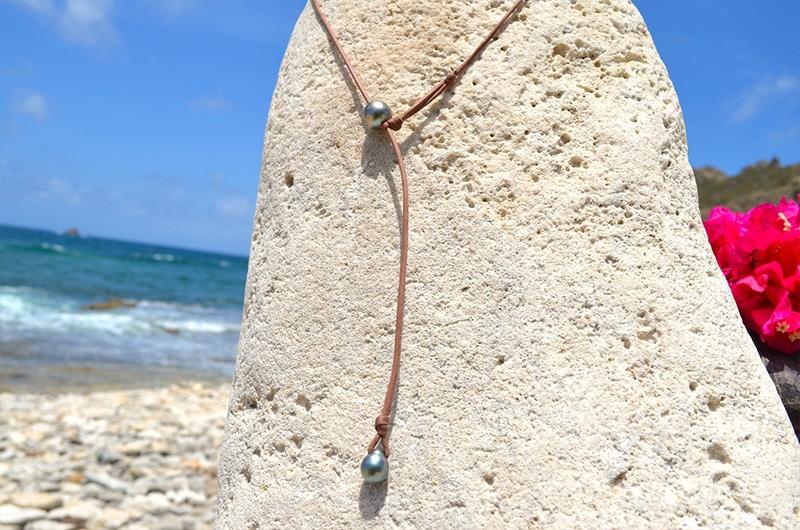 Collier raz du cou une perle de Tahiti - 11mm
