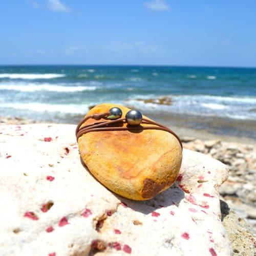 Collier raz du cou une perle de Tahiti - 12mm