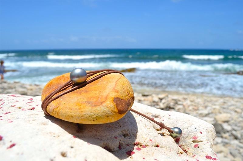 Collier raz du cou une perle de Tahiti - 13mm