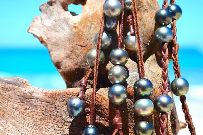 Collier tressé 33 perles de Tahiti