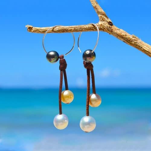 Creoles pearls multicolore