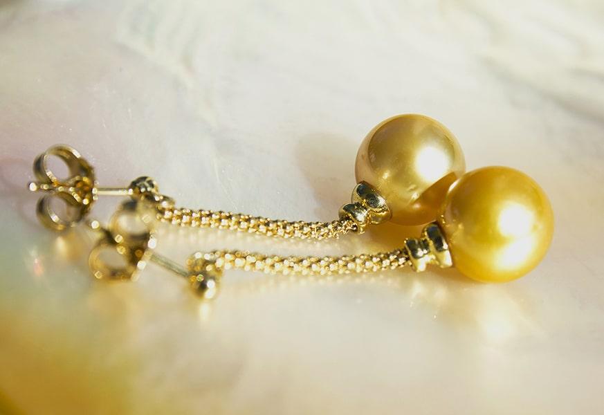 Gold Earrings - Kalinas Perles
