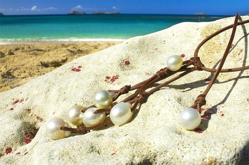Grape Necklace 7 Autralian Pearls