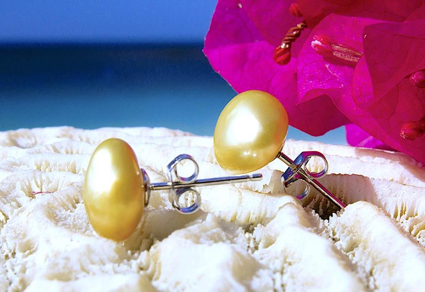 Keishi Earrings - Kalinas Perles