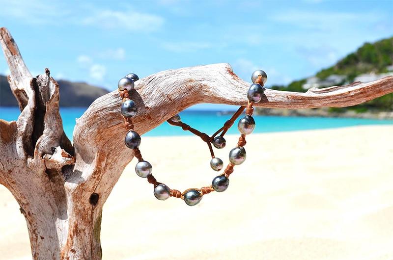 Necklace/Bracelet 17 Tahitian Pearls