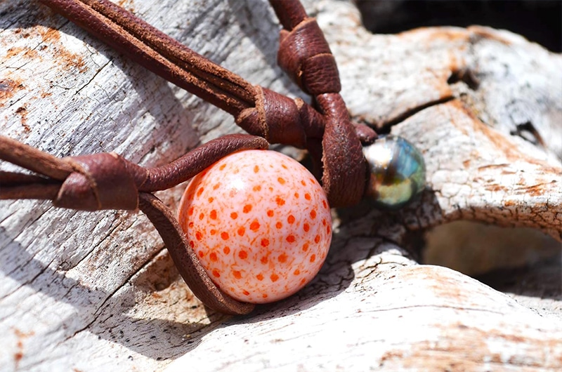 Pendant Necklace 1 Tahitian & Coral Pearl